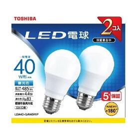 東芝 LDA4D-G/K40V1P LED電球 E26 昼光色