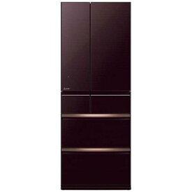 【無料長期保証】三菱 MR-WX70E-BR 6ドア冷蔵庫(700L・フレンチドア) クリスタルブラウン