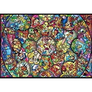 ジグソーパズル ディズニー キャラクター ピュアホワイトぎゅっと266Pジグソーパズル オールスターステンドグラス
