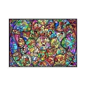ジグソーパズル 500ピース ディズニー キャラクター ジグソーパズル オールスターステンドグラス
