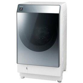 【無料長期保証】シャープ ES-W112-SR ドラム式洗濯乾燥機 (洗濯11.0kg/乾燥6.0kg・右開き) シルバー系