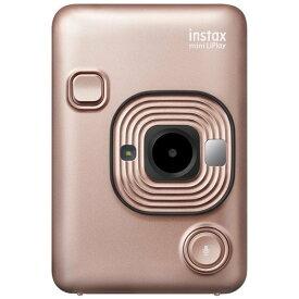 富士フイルム INSMINIHM1BLUSHGOLD ハイブリッドインスタントカメラ instax mini LiPlay 「チェキ」 ブラッシュゴールド