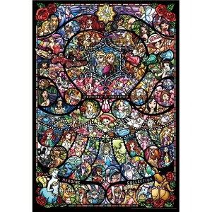 ジグソーパズル 1000ピース ディズニー&ディズニー/ピクサーヒロインコレクションステンドグラス(ピュアホワイト)