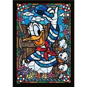 ジグソーパズル 266ピース ディズニー ジグソーパズル ドナルドダック ステンドグラス