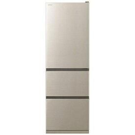 【無料長期保証】日立 R-V38KV-N 3ドア冷蔵庫 (375L・右開き) シャンパン