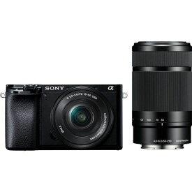 ソニー ILCE-6100Y B デジタル一眼カメラ α(アルファ) ダブルズームレンズキット ブラック