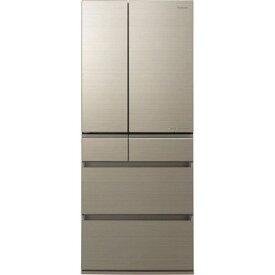 【ポイント2倍!3月29日(日)00:00〜】【無料長期保証】パナソニック NR-F655HPX-N 6ドア冷蔵庫(650L・フレンチドア) アルベロゴールド
