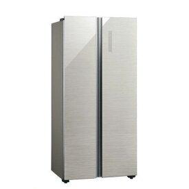 【無料長期保証】冷蔵庫 アクア 400L以上 AQUA AQR-SBS45J(S) 冷蔵庫 (449L・フレンチドア) ヘアラインシルバー