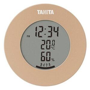 タニタ TT-585 デジタル温湿度計 ライトブラウン