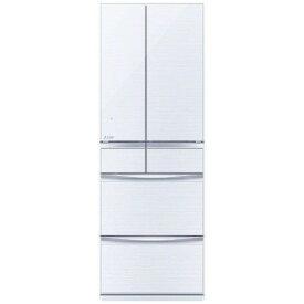 三菱 MR-MX46F-W 6ドア冷蔵庫 (455L・フレンチドア)MXシリーズ クリスタルホワイト
