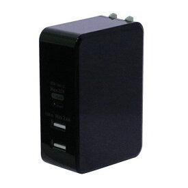 ミヨシ IPA-C05/BK USB PD対応USB-ACアダプタ 61W 黒