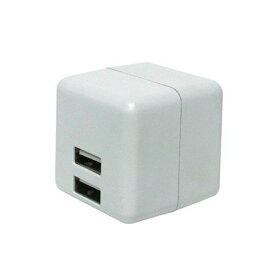 ミヨシ IPA-US02/WH USB-ACアダプタ 2.4A 白 自動出力制御機能付