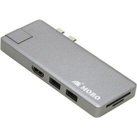 アーキサイト AM-TC2D02SG Dual Type-C Dock +LAN MacBook Air MacBook Pro用 スペースグレー MOBO