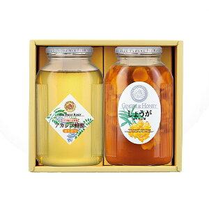 【山田養蜂場】【季節限定】しょうがとはちみつのセット 1セット「しょうがはちみつ漬」と「アカシア蜂蜜」のセット ギフト プレゼント 食べ物 食品 はちみつ 健康 人気 お歳暮