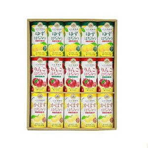 【山田養蜂場】ハニードリンク3種詰合せ 195g×15本 ギフト セット プレゼント 食品 ジュース ドリンク 飲み物 はちみつ 人気 紙パック ケース ケース買い 国産はちみつ 詰め合わせ 小分け 日