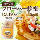 【山田養蜂場】クローバー蜂蜜(カナダ産) 1kg袋 ギフト プレゼント 食べ物 食品 はちみつ 健康 人気