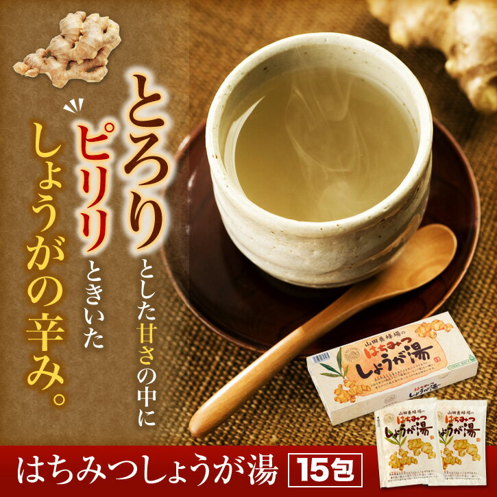 【山田養蜂場】はちみつしょうが湯 20gX15包 ギフト プレゼント 食品 健康 人気 母の日 プレゼント