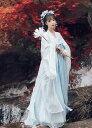 中国古典唐装漢服 レディース 3点セットアップ 羽織綺麗な中華風コスプレ衣装 改良漢服 イベント 学園祭 チャ…