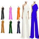 レディースオーバーオール パーティー パンツドレス オールインワン 12色 欧米風 ガウチョパンツ バレエ/ラテン…