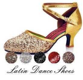 社交ダンスラテンシューズ レディース ダンスシューズ ヒール 3.5cm/5.5cm/6.5cm モダンシューズ サルサ サルサ シューズ オープントゥ 靴 スパンコール