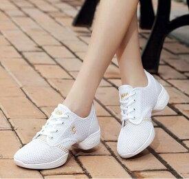 送料無料 チアリーディング レディースダンスシューズ 女性靴 通気性よい ジャズダンススニーカー 4colors エアロビクス スニーカー 普段着