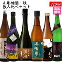 日本酒 飲み比べセット 山形秋のお酒 720ml×6本 送料無料 ハロウィン プレゼント 2019