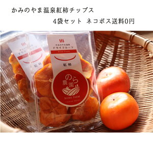 国産 かみのやま温泉 紅柿 ドライフルーツ チップス 40gx4袋入 ネコポス送料無料 干し柿 干柿 父の日 ギフト プレゼント