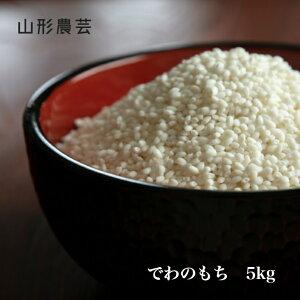 【送料無料】でわのもち 5kg 山形県産 白米 玄米【沖縄・離島+2300円】山形 もち米 餅米
