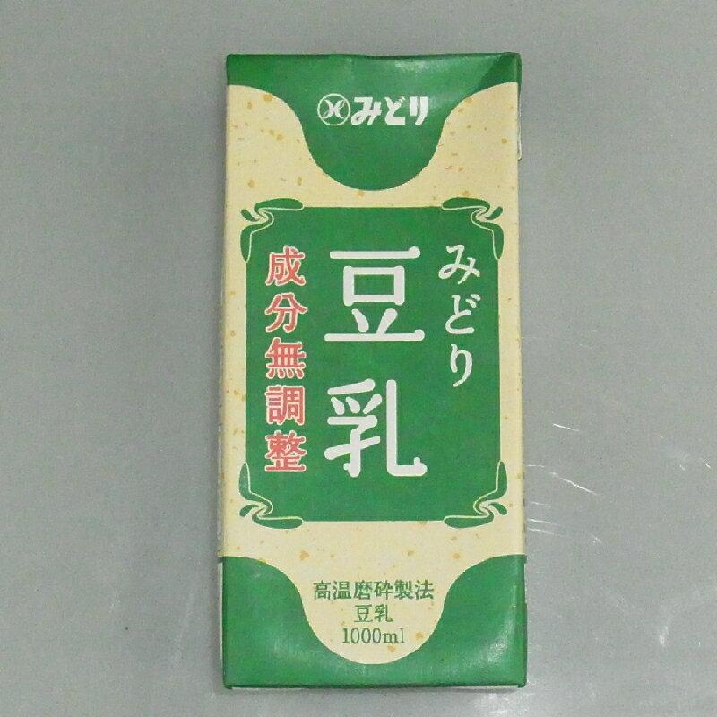 『みどり おいしい豆乳(成分無調整)』1000mlx6本