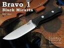 Bark River/バークリバー #BA111MBC Bravo 1 Black Micarta ブラボー1/A2 ブラックキャンバスマイカルタ シースナイフ