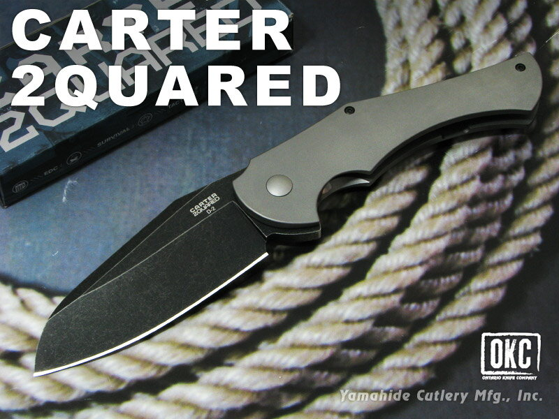 ONTARIO/オンタリオ #8876 カーター 2 クワード 折り畳みナイフ
