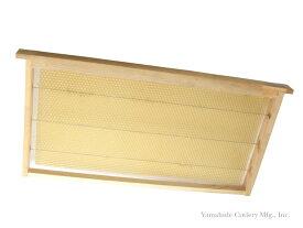 養蜂器具 巣礎巣枠組み立て完成品 10枠 山形金具【受注生産】
