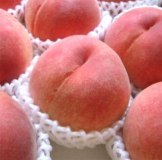 A peach 2 kg box (with approximately six) of Yamanashi is big; and relief of a lot of sweetness ♪ ★ producer-limited from Yamanashi-shi