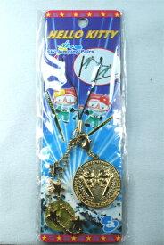 ★ハローキティ Ski Jumping pairs金メダルストラップ【メール便OK】商品先頭名に★がついている商品3個でメール便送料無料!