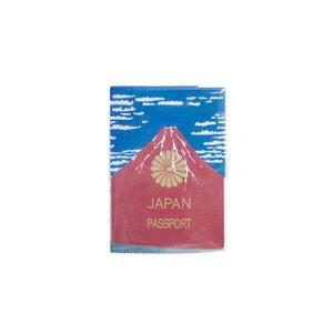 Akafuji 赤富士パスポートカバー パスポート パスポート入れ トラベルケース 富士山 赤富士 日本 お土産 旅行 便利グッズ◇旅行用品 デザイン雑貨 おしゃれ