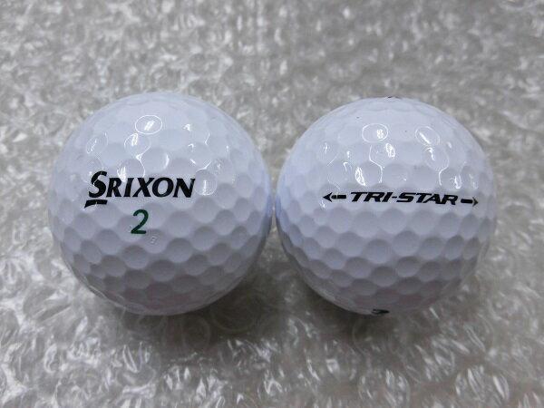 【Sランク】SRIXON スリクソン TRI-STAR 2017モデル ホワイト 1球【マーク・ネーム有】【中古】ロストボール ゴルフボール