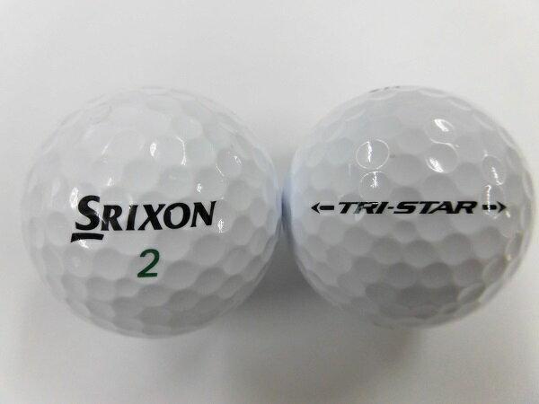 【Aランク】SRIXON スリクソン TRI-STAR 2017モデル ホワイト 1球【マーク・ネーム有】ゴルフボール【中古】ロストボール