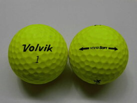 【Aランク】ボルビック ビビッド ソフト イエロー 1球【マーク・ネーム無】【中古】ロストボール ゴルフボール volvik VIVID SOFT