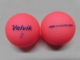 【Aランク】ボルビック ビビッド ライト シャーベットピンク 1球【マーク・ネーム無】【中古】ロストボール ゴルフボール volvik VIVID LITE