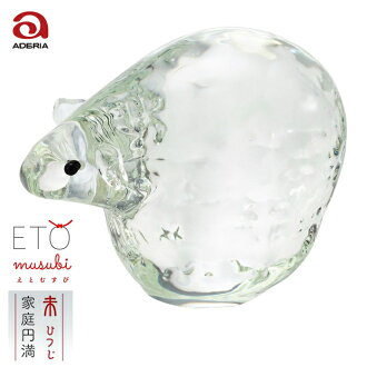 Convey thank you; dried; supporting; non-glass sexagenary cycle decoration Rie and end F-47122 Ade rear Ishizuka Glass | Ornament glasswork sheep sheep present rain jacket bridge rain jacket bridge