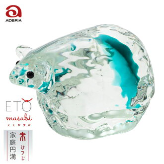 Convey thank you; dried; supporting; non-glass jade sexagenary cycle decoration Rie and end F-47134 Ade rear Ishizuka Glass   Ornament glasswork sheep sheep present rain jacket bridge rain jacket bridge