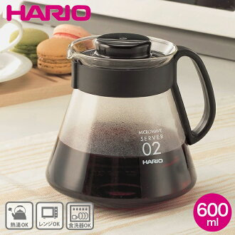 V60 range server 600 ml (coffee pot) HARIO ( hario ) XVD-60B ☆