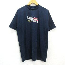 s■カンタベリー/CANTERBURY ロゴ入り半袖Tシャツ【 XL 】紺/MENS/75【中古】