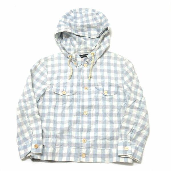 メルシーボークー/mercibeaucoupチェック柄 フード付きシャツジャケット【3】★LADIES 【中古】