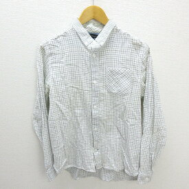 □ ユナイテッドアローズ/UNITED ARROWS GLRチェック長袖BDシャツ■白【L】レディース用LADIES【中古】