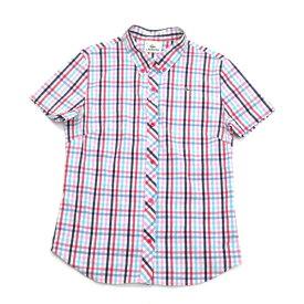ラコステ/LACOSTEマドラスチェック柄 半袖BDシャツ【38】◇マルチLADIES【中古】