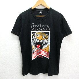 Z■KTM/ケツメイシ ROPPONGI CIRCUSプリントTシャツ■黒【メンズM】MENS/40【中古】