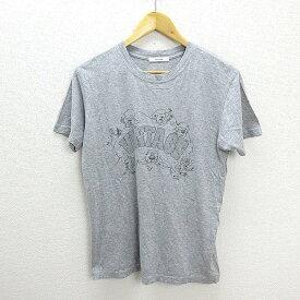 T■ジャーナルスタンダード/JOURNAL STANDARD VINTAGEアメカジTシャツ■霜降り【M】MENS/P89【中古】
