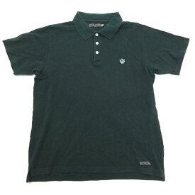 デラックス/DELUXE CLOTHING鹿の子地 半袖ポロシャツ【L】★緑MENS/T【中古】