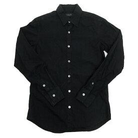 ラウンジリザード/LOUNGE LIZARD長袖シャツ/ドレスシャツ【1】★黒MENS/T【中古】